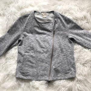 MATILDA JANE TERRY CLOTH SWEATSHIRT IN GREY
